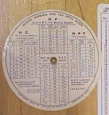 Nc Tap Chart Lufkin Round Screw Thread Calculator Chart