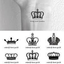 žena Man Sheet Tetování Samolepky Korunka Vodotěsný At Vova