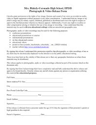 Photograph Video Release Form In Word And Pdf Formats