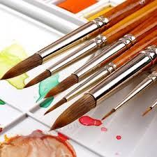 HWAHONG <b>1Piece</b> Nylon Hair <b>Watercolor</b> Paint <b>Brush</b> Professional ...