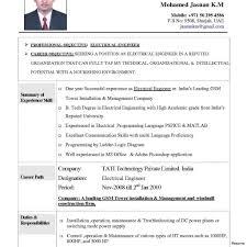 Electrical Engineering Resume Sample Pdf Engineers Cv Engineers