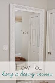 Simple DIYon Video: How To Hang A Heavy Mirror