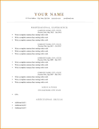 Free Simple Resume Templates Sample Basic Resumes Resume Formatord Free Easy Template How 86
