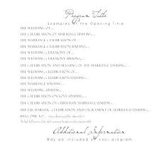 Wedding Ceremony Templates Free Wedding Program Wording Samples One Page Content Examples