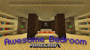Minecraft Pe Bedroom Minecraft How To Make An Awesome Bedroom Design Youtube