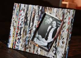 Paper Reed Frame #paper crafts #recycle