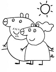 Small Picture Daddy Peppa Pig Coloring PagesPeppaPrintable Coloring Pages Free