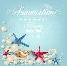海の日のデザインに使える夏のビーチや生き物の無料イラスト13点