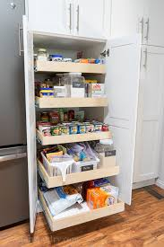roll out pantry shelves for extra deep pantry