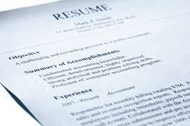 resume basics write up a resume