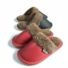 Winter Plush Kids Slipper For Girls Boys Plush Cotton Home Thick Bottom Warm Real Leather Slippers Buy Cute Kids Slippers Winter Warm Indoor