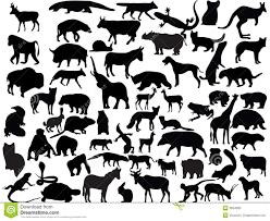 Vectors Silhouettes Vectors Of Animals Stock Vector Illustration Of Vector 3634585