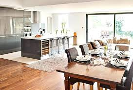 open plan kitchen dining room diner living floor with large island open plan kitchen dining room diner living floor with large island
