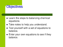 learn the steps to balancing chemical equations