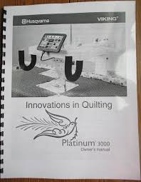 Husqvarna Viking Platinum 3000 Long Arm Quilting Machine Users & Like this item? Adamdwight.com