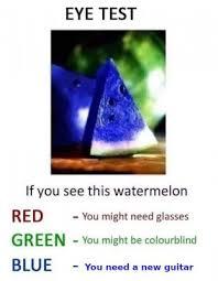 Blue Watermelon Eye Test Best Picture Of Blue