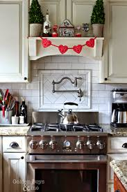 Kitchen Mantel Golden Boys And Me Winter Valentines Day Decor In The Kitchen