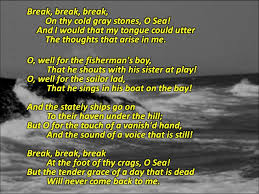 tennyson s break break break  7