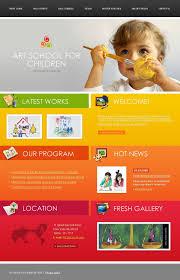 Kids School Website Template Art School Website Template 18239