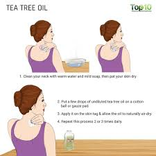 being potent in nature tea tree oil is another very effective solution for getting rid of skin tags from your neck fast and naturally