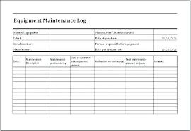 Machine Maintenance Log Template Machine Maintenance Template Machine Breakdown Report Template