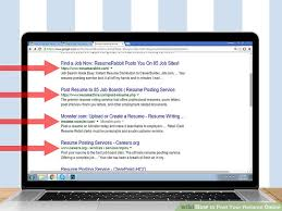 Resume Posting Adorable How To Post Your Resume Online 28 Steps With Pictures WikiHow