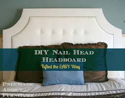 a diffe headboard tufted the easy way