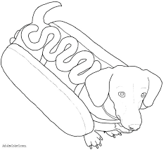 Dachshund Puppy Coloring Pages Bltidm
