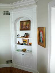 ... Corner China Cabinetng Room Traditional With Brick Fireplace  Literarywondrous Built In Cabinets Image Ideas Home Decor ...