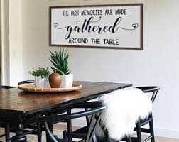 dining room decor. Wonderful Dining Large Dining Room Sign  The Best Memories Are Made Around Talbe  Farmhouse Wall Decor Framed 48 Inside Dining Room Decor