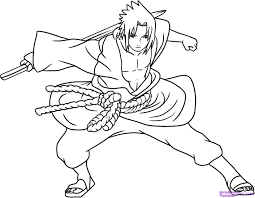 Small Picture Naruto Vs Sasuke Coloring Pages Free Printables Pinterest