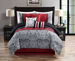 sensational red and gray comforter sets bedroom canada full bedding black new