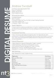 Resume Template Australia 2017