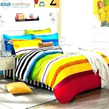 multi colored bedding sets quilt rainbow color stripes boys set for single double coloured b king