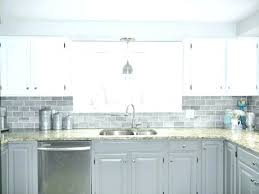 full size of grey glass subway tile backsplash with cherry cabinets and black countertops home depot
