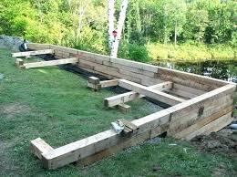 wood retaining wall wooden best ideas on sleeper walls pressure treated design timb