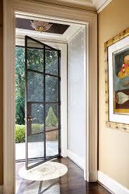 exterior door with blinds between glass with transitional entry also artwork black ceiling custom design dry floor inlay glass door glass panels