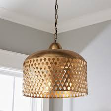 fan screen metal pendant metal light