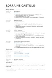 Bank Teller Resume Examples Samples Recent Pictures Include