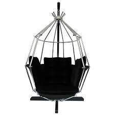 hanging chrome birdcage chair by ib arberg the kairos collective uk