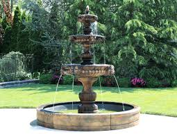 large outdoor water fountain maintenance designs