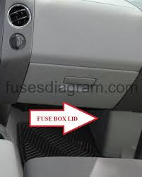 fuse box ford f150 2004 2008 fuse box diagram for 2004 ford f150 heritage to remove the fuse box cover, place a finger behind the pull tab and your thumb above the pull tab as shown in the illustration, then pull the cover off