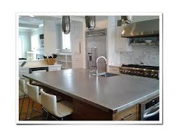 zinc kitchen countertop