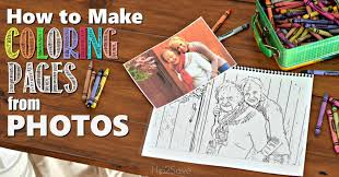 Make Custom Coloring Pages From Your Photos Hip2save