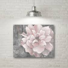 grey pink canvas wall art