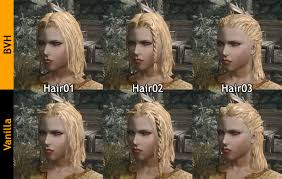 Skyrim Hair Style Mod better vanilla hairs mesh replacements at skyrim nexus mods 4382 by wearticles.com