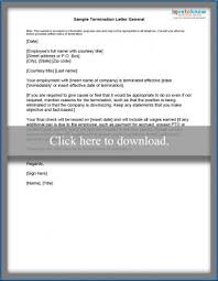 Example Letter Of Termination Sample Termination Letters Lovetoknow