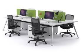 office workstation desks. plain desks san fran  4 person office workstation desk chrome leg 1200l x 800w  on desks y