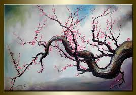 beautiful flower subject plum blossom wonderful workmanship modern oil paintings