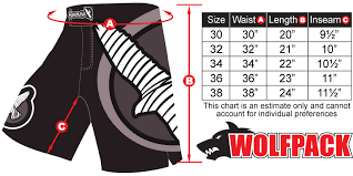 Cage Fighter Shorts Size Chart 55 Detailed Sprawl Shorts Size Chart